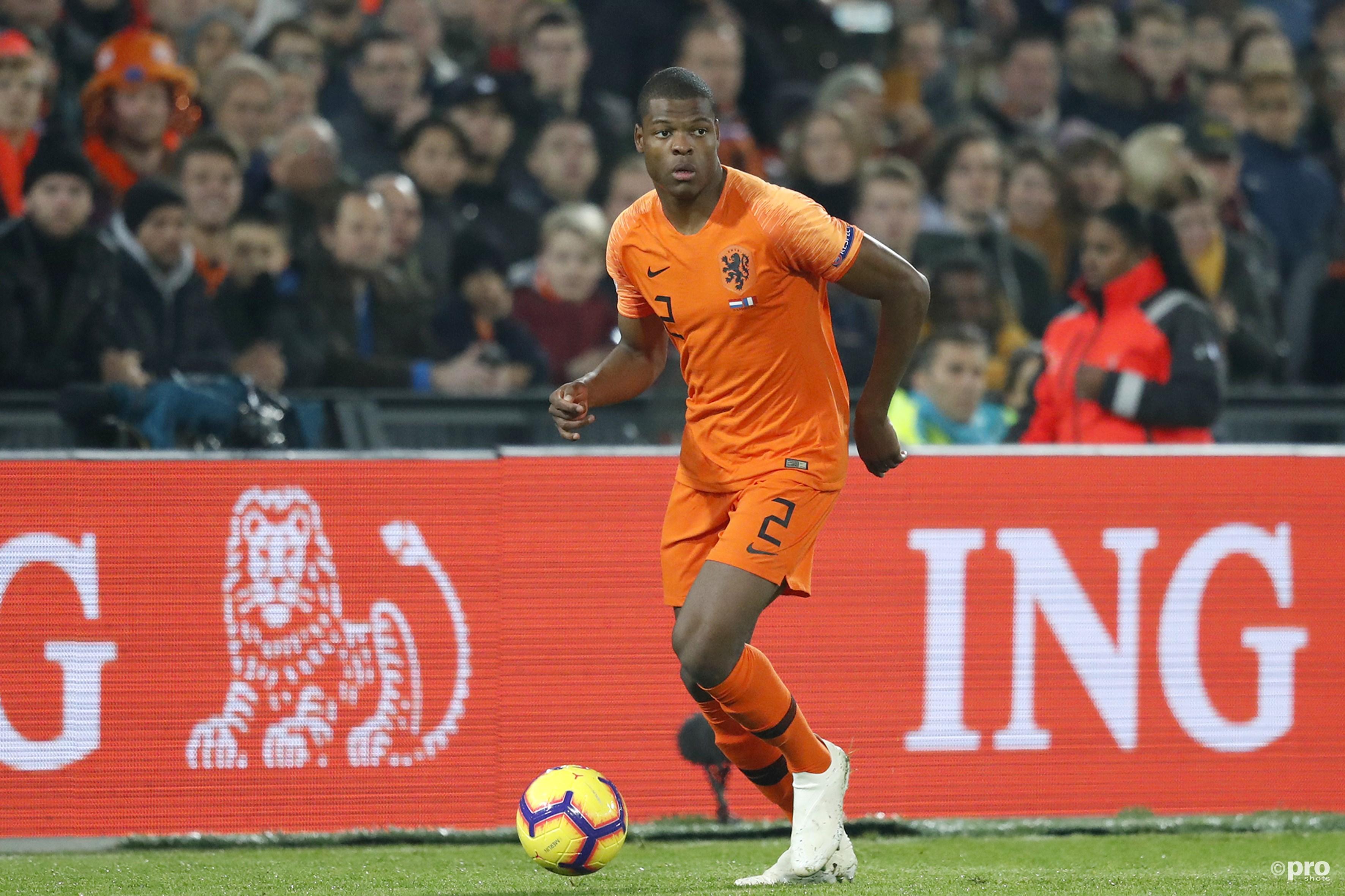 Denzel Dumfries in het Nederlands elftal (Pro Shots / Stanley Gontha)