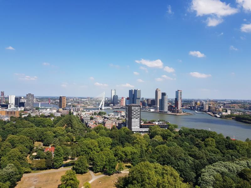 De Skyline van Rotterdam, vanaf de Euromast. (foto: Dj-Larson)