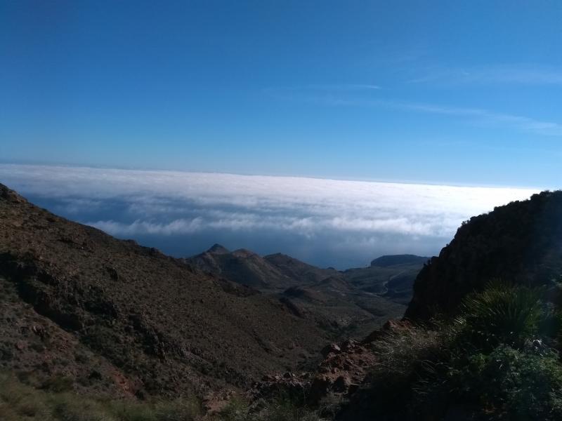 Uitzicht op de wolken in de Sierra Cabo de Gata. (Foto: Kroezel)