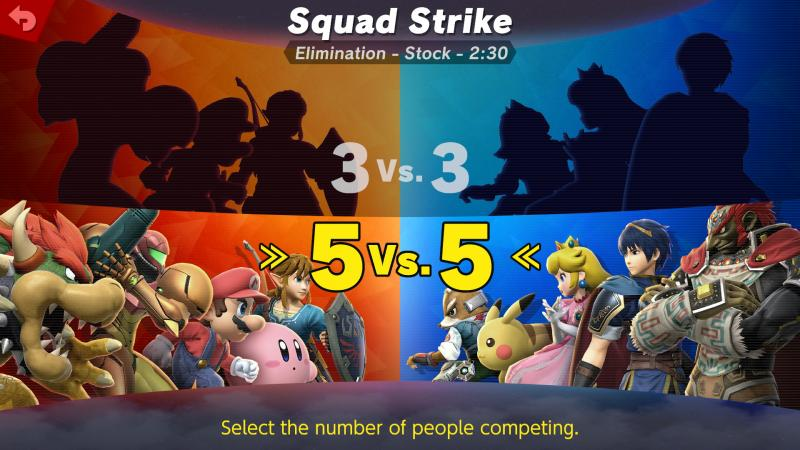 Super Smash Bros. Ultimate - 5 vs 5 (Foto: Nintendo)