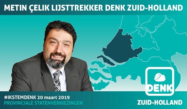 Metin Çelik lijsttrekker DENK Zuid-Holland (Foto: DENK)