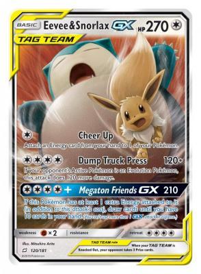 Pokemon Trading Card - Tag Team GX Eevee-Snorlax (Foto: Pokemon Company)