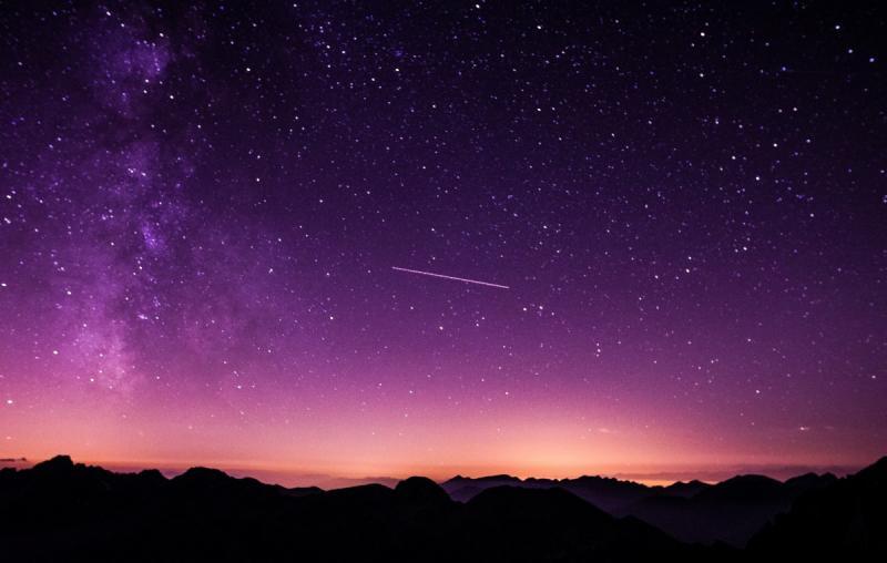 Vallende sterren komende nachten goed te zien (Stockfoto: PXhere)