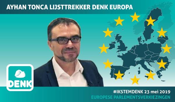 Ayhan Tonca lijsttrekker voor DENK in Europa (Foto: DENK)