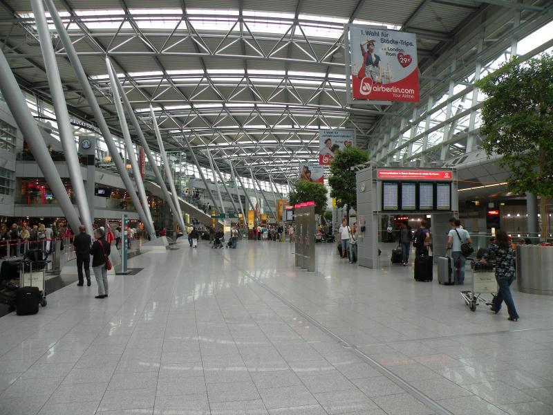 Het vliegveld van Düsseldorf (Foto: PXhere)