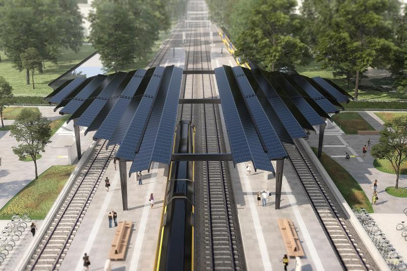 Delft krijgt primeur met energieneutraal treinstation  (Foto: Ministerie van Infrastructuur en Waterstaat)