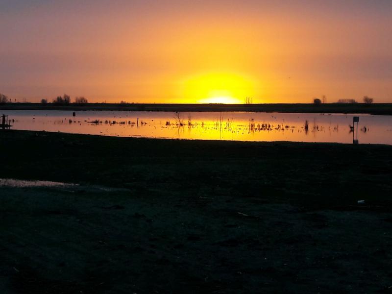 Zonsopkomst nabij Kampen (Foto: Mark Looney)