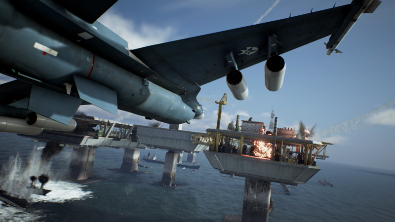 Ace Combat 7: Unknown Skies - Mission at sea (Foto: Bandai Namco)