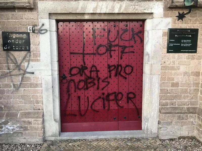 'Fuck God' (Foto: Politie Westervoort )
