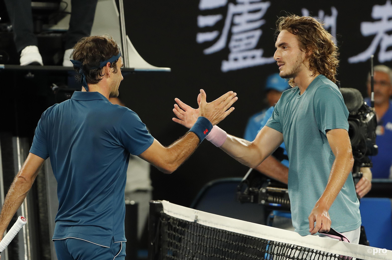 Tsitsipas boekte een wellicht historische overwinning op Federer (Pro Shots/Action Images)