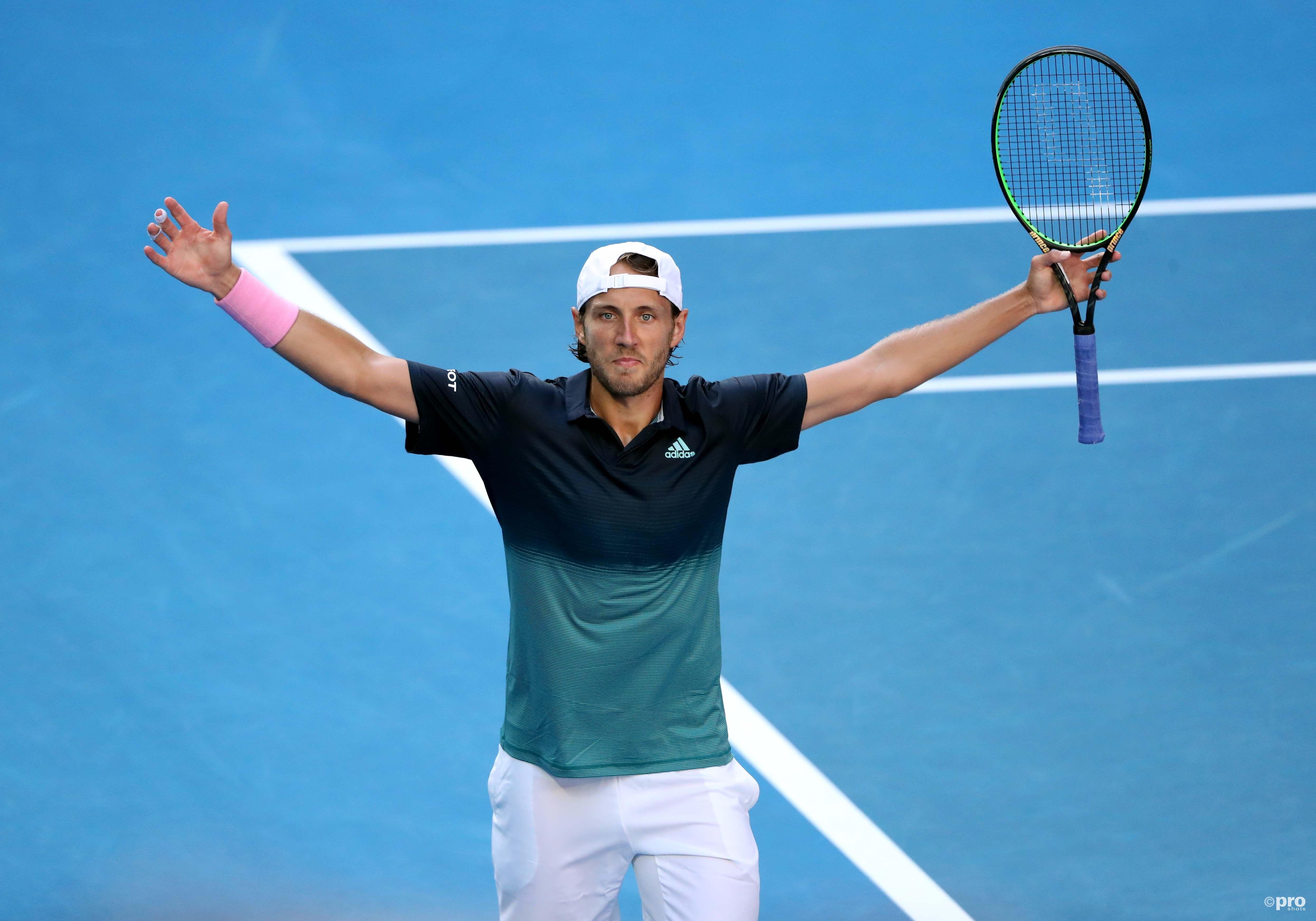 Pouille staat in zijn eerste halve finale op een Grand Slam-toernooi (Pro Shots/Action Images)