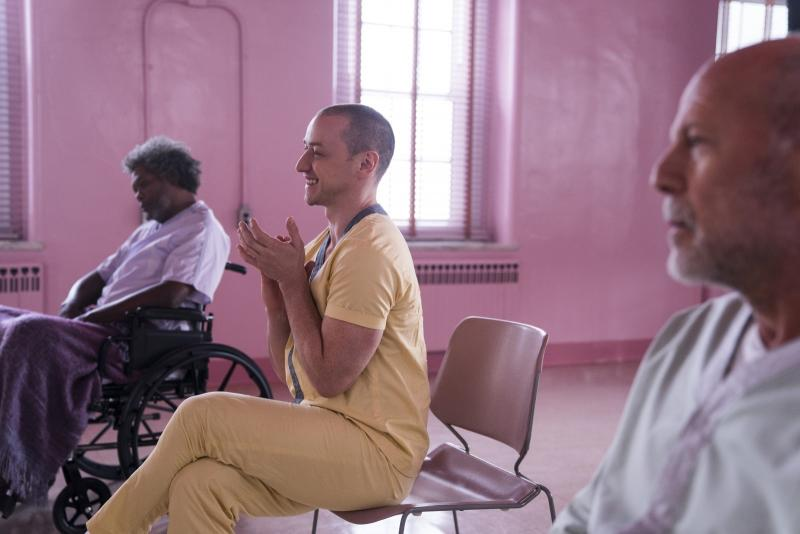 Glass: Samuel L. Jackson, James McAvoy en Bruce Willis