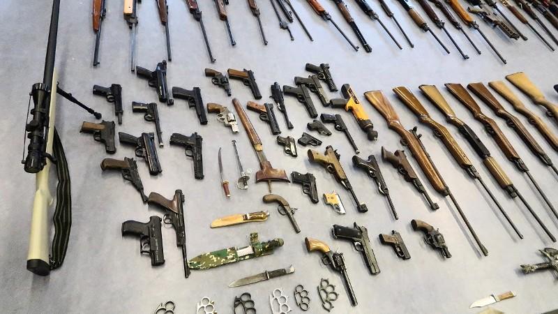 Wapeninleveractie Rotterdam afgelopen: 262 wapens ingeleverd (Foto: Politie)