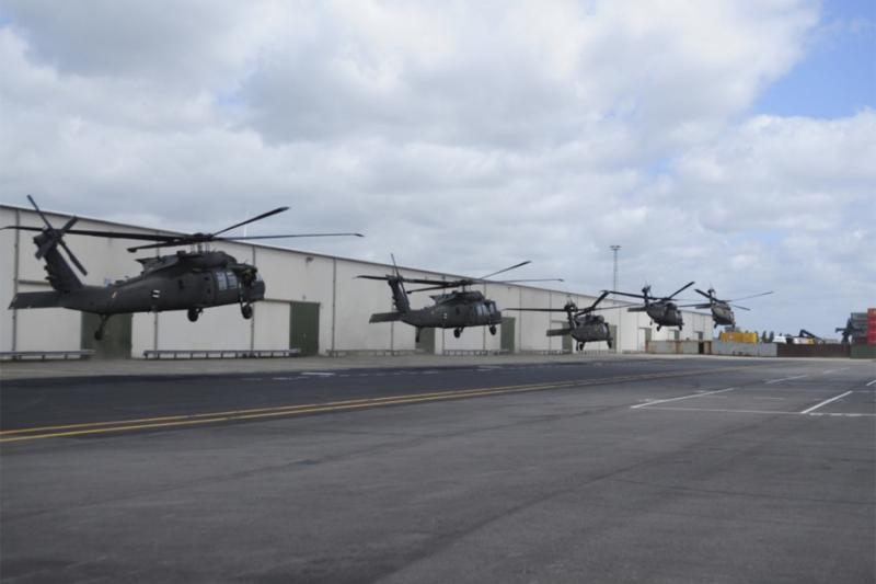 Defensie helpt bij terugkeer Amerikaanse helikopterbrigade (Foto: Defensie)