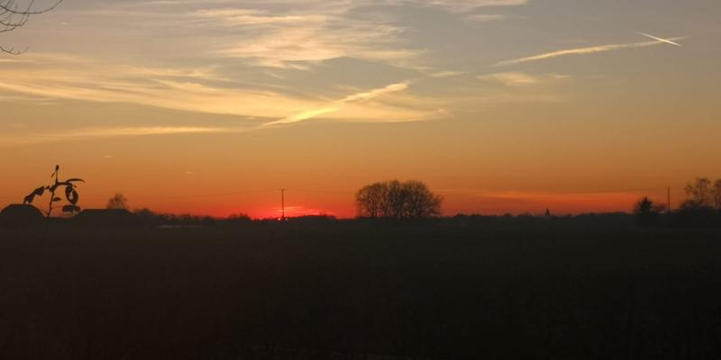 Mooie zonsopkomst in Duitsland