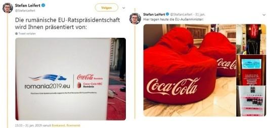 Foodwatch eist einde 'partnerschap' EU-voorzitter met Coca-Cola (Foto: foodwatch)