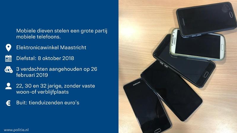 Politie rolt internationale bende telefoondieven op (afbeelding: Politie)