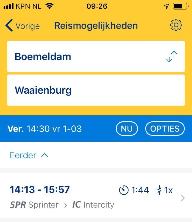 Van Boemeldam tot Waaienburg (Afbeelding: Nederlandse Spoorwegen)