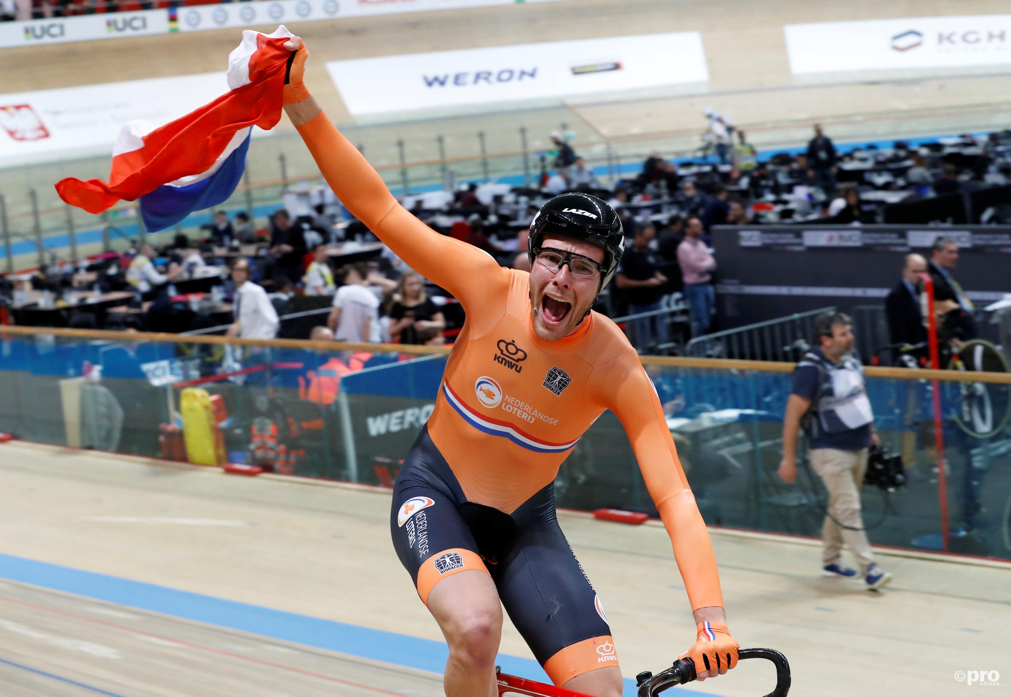 Baanwielrenner Van Schip pakt met overmacht wereldtitel op puntenkoers (Pro Shots / Action Images)