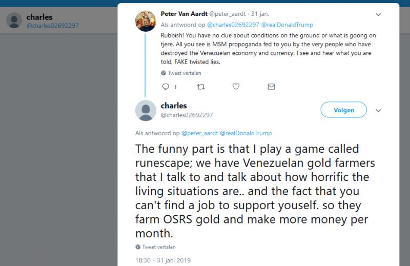 OSRS - tweet - gold farm