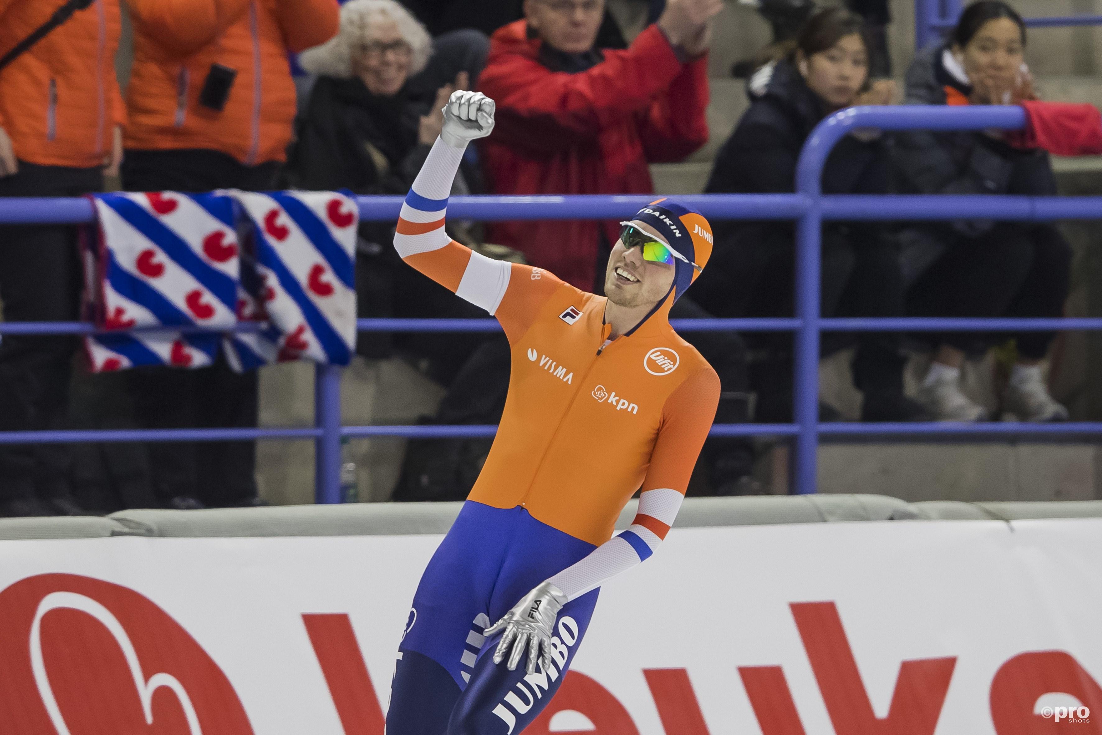 Tweede wereldtitel voor Patrick Roest. (PRO SHOTS/Erik Pasman)