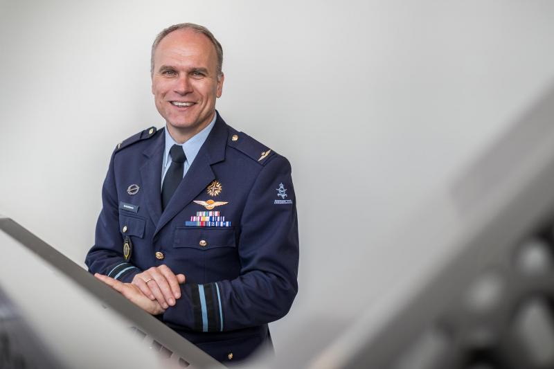 MIVD-directeur generaal-majoor Onno Eichelsheim was een van de gasten bij de oprichting van het Intelligence College in Europe (Foto: Defensie)