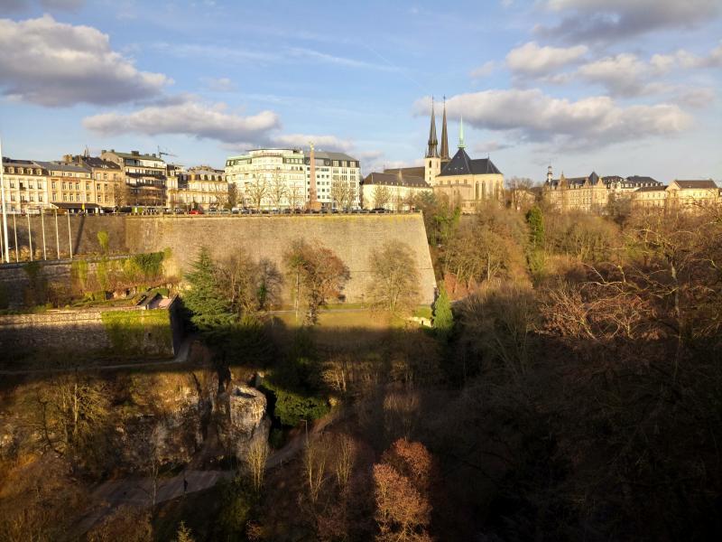 Luxemburg-Stad, paar weken geleden (Foto: bazbo)