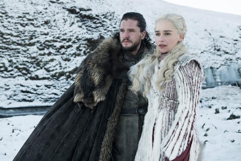 Game of Thrones 8: Kit Harington en Emilia Clarke (Foto: HBO / Ziggo)