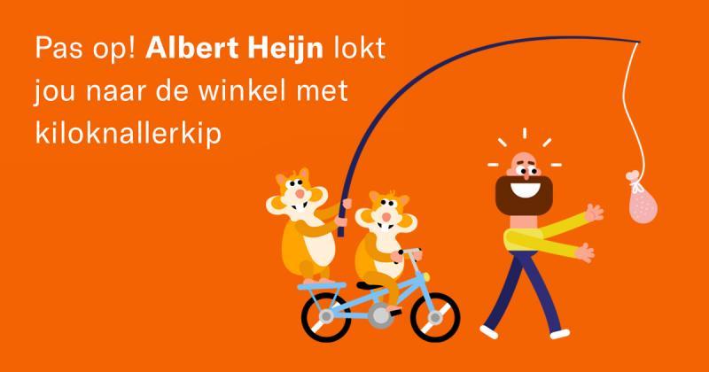 Wakker Dier hekelt gestunt met lokkip bij Albert Heijn (Afbeelding: Wakker Dier)