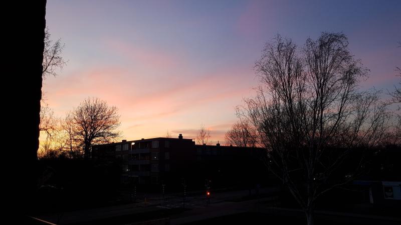 Spylacopa_68 had woensdagavond een prachtig uitzicht vanaf zijn balkon  (Foto: Spylacopa_68)