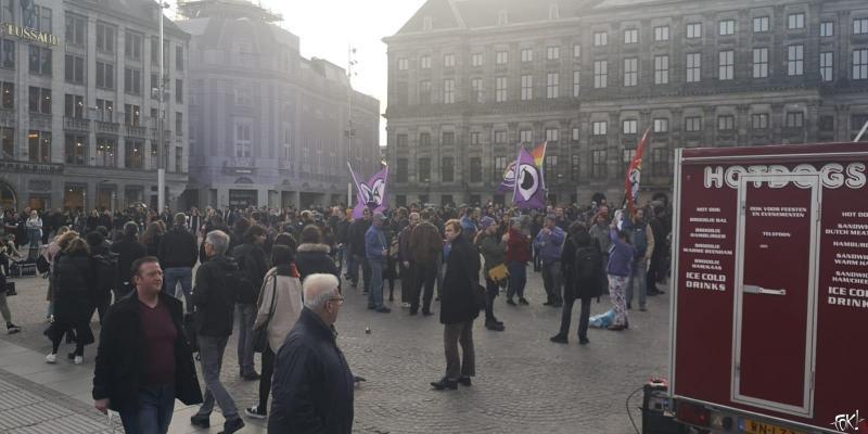 ACTA op De Dam: de demonstratie (Foto: FOK!)