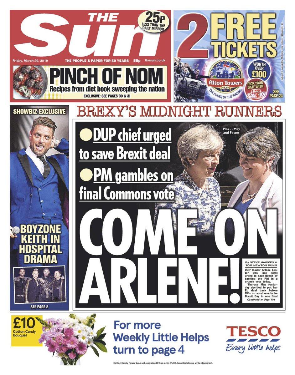 The Sun - Come on Arlene!