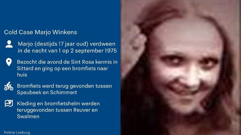 Politie zoekt na 43 jaar opnieuw naar Marjo Winkens (Afbeelding: Politie)
