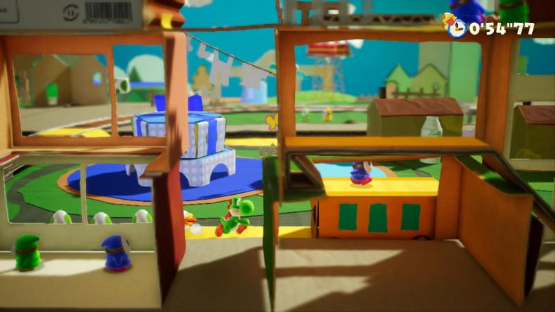 Yoshi's Crafted World - Level flipped (Foto: Nintendo)