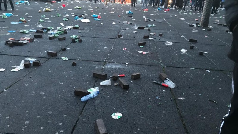Meer dan 140 aanhoudingen voorafgaand aan Ajax-Juventus (Foto: Politie)