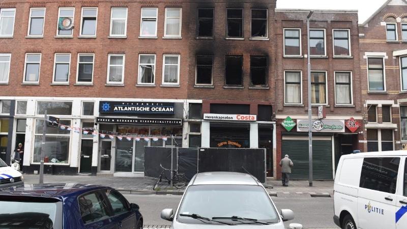 Fatale brand Rotterdam waarschijnlijk aangestoken (Foto: Politie)