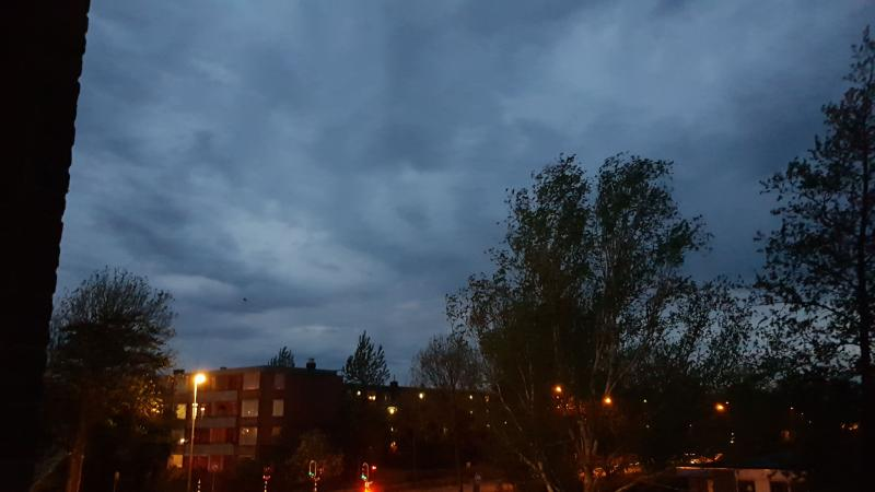 Het zicht vanaf een balkon in Purmerend (Foto: spylacopa_68)
