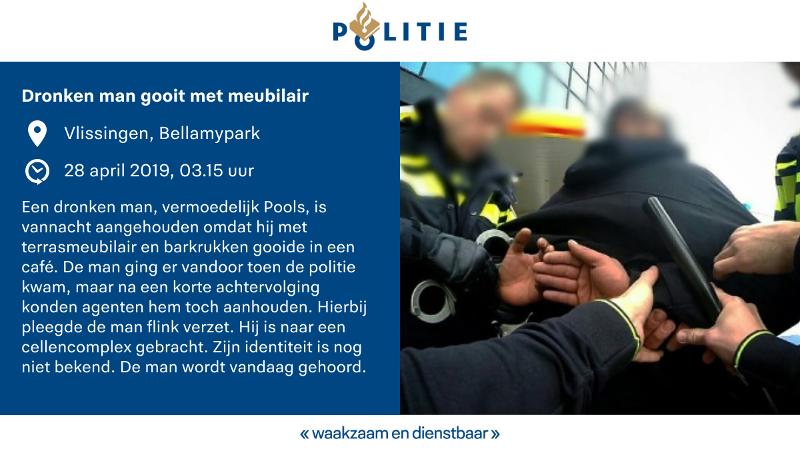 Dronken pool krijgt caféverbod na gooien met barkrukken (Afbeelding: Politie.nl)