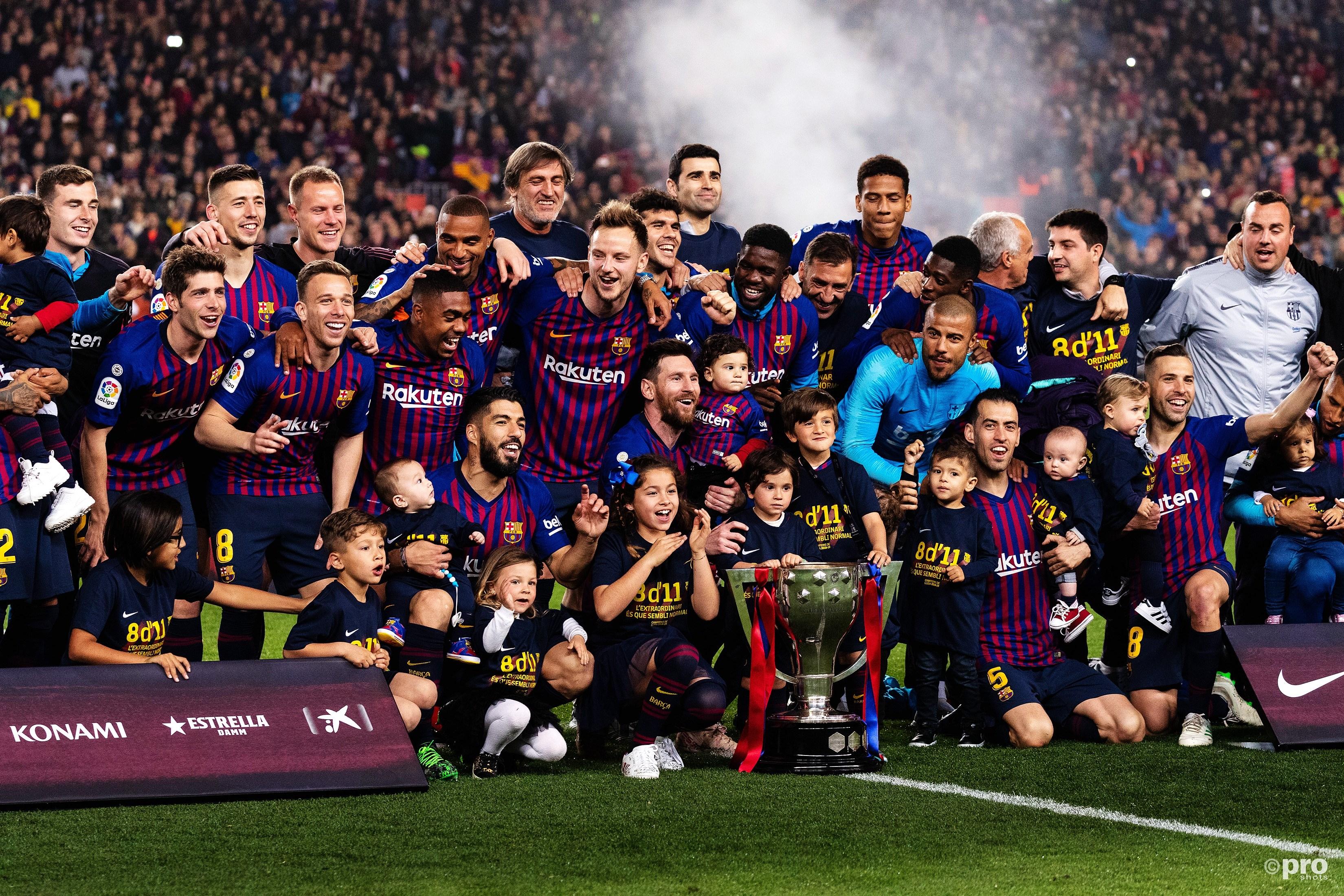 Barcelona kampioen. (PRO SHOTS/SIPA USA)