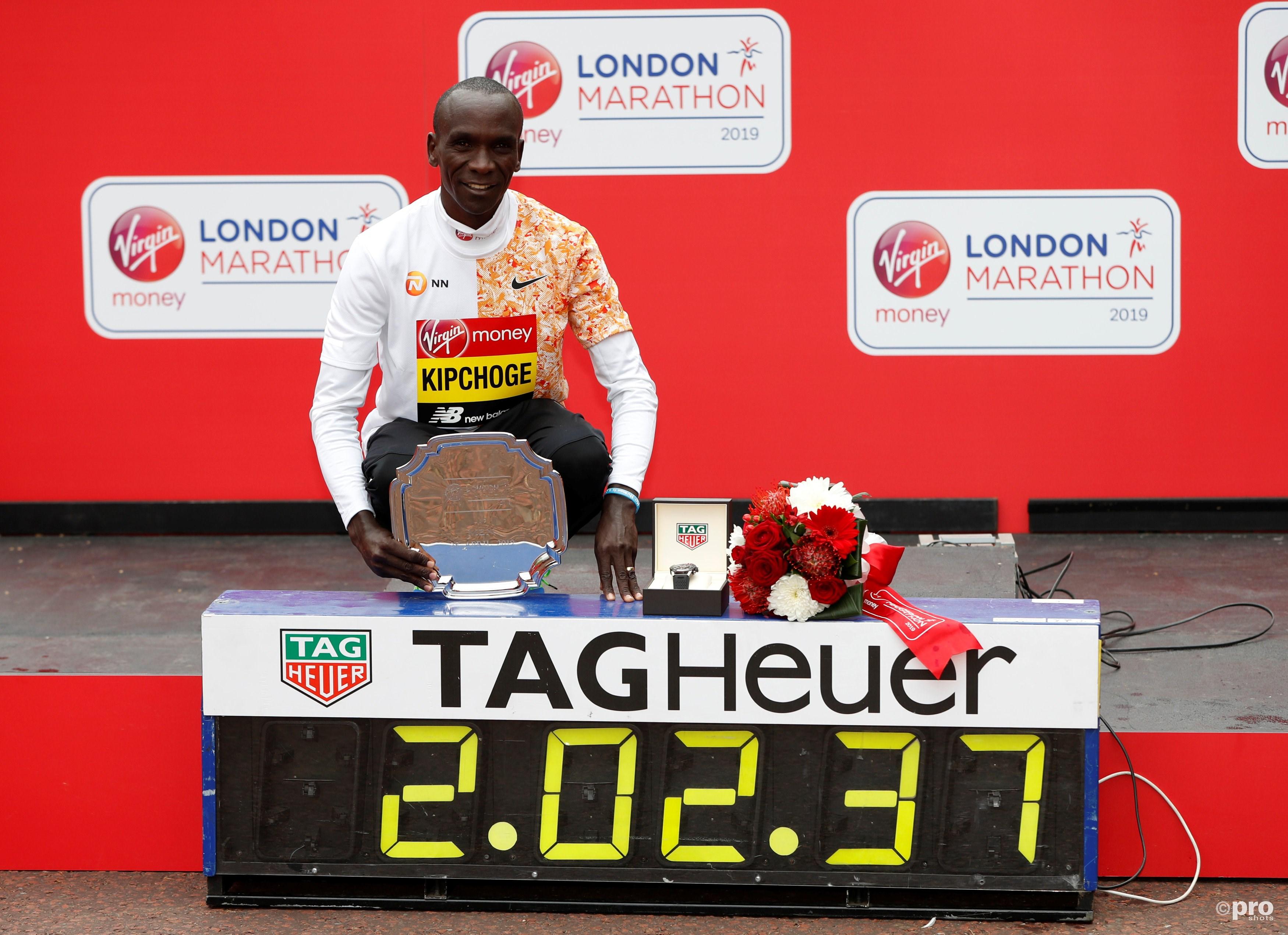 Winnaar marathon Londen. (PRO SHOTS/Action Images)
