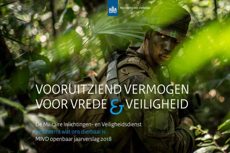 Cover MIVD Jaarverslag 2018 (Afbeelding: Defensie)