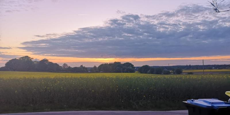 Zonsondergang ergens op het platteland. (Foto: DJMO)