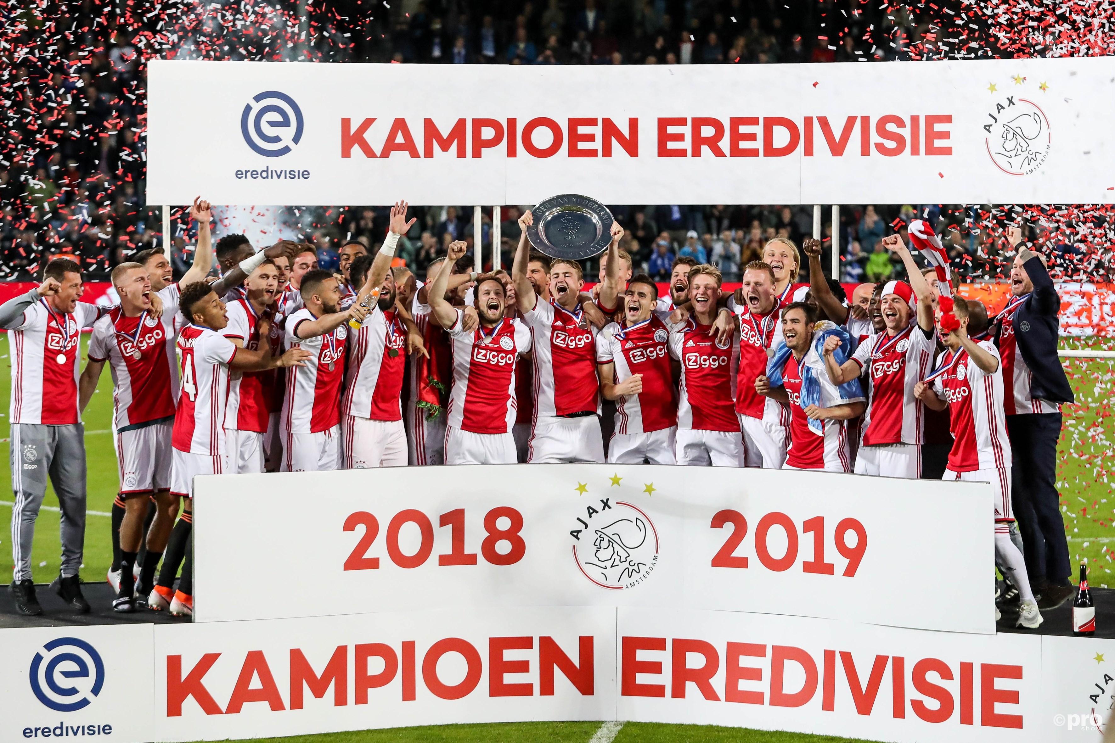 Ajax kampioen van Nederland. (PRO SHOTS/Kay Int Veen)