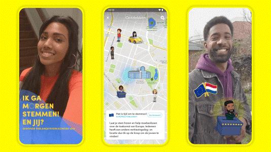 Snapchat gaat oproepen om te stemmen bij Europese Parlementsverkiezingen  (Foto: Snap Inc. )