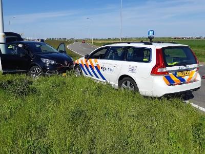 De gesloten auto die afgelopen woensdag op de A4 bij Hoofddorp werd onderschept