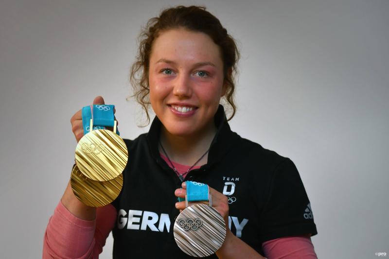 Dahlmeier met haar olympische medailles (Pro Shots / Imago)