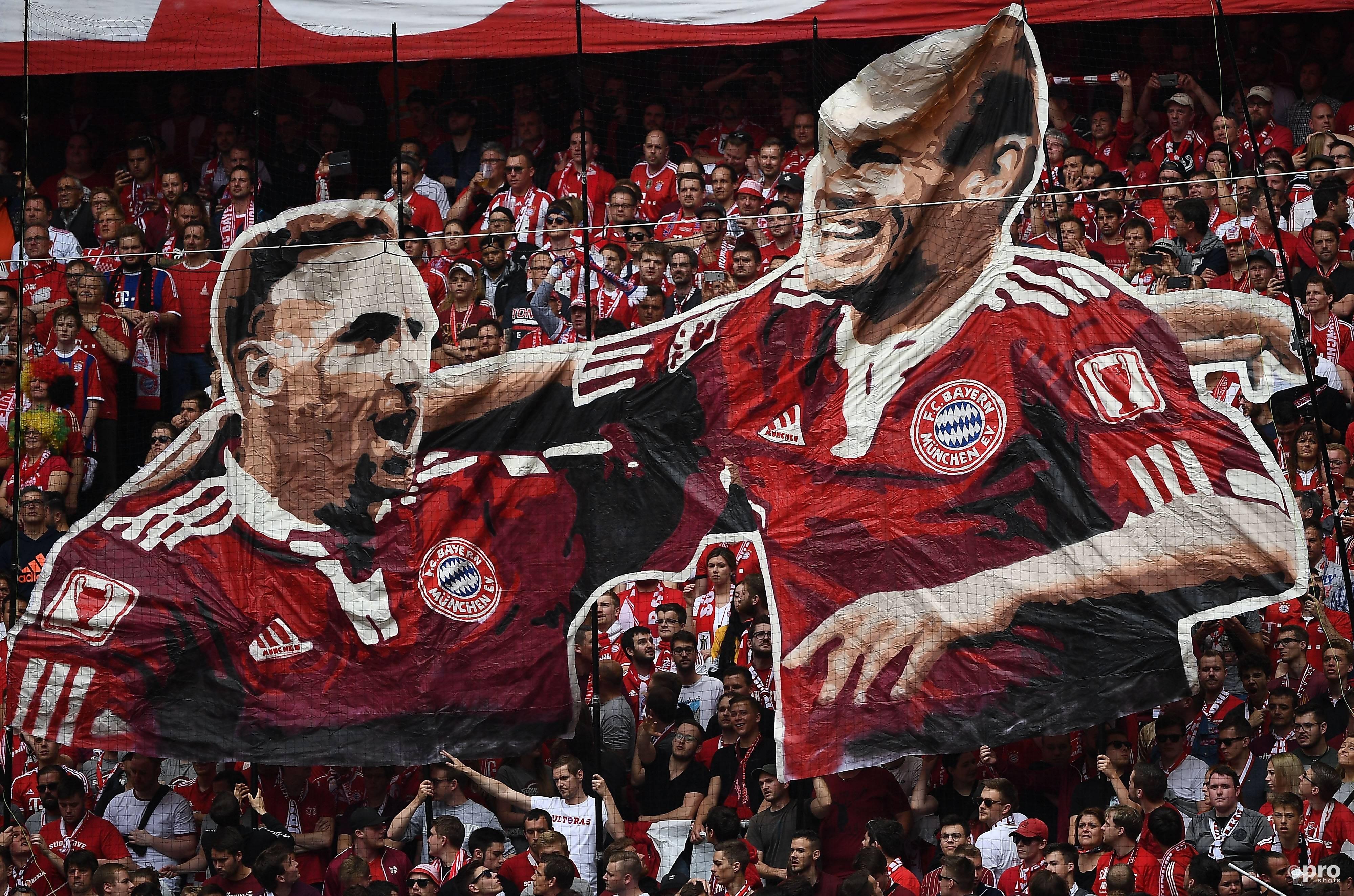Bayern neemt afscheid van Ribery en Robben. (PRO SHOTS/Imago)