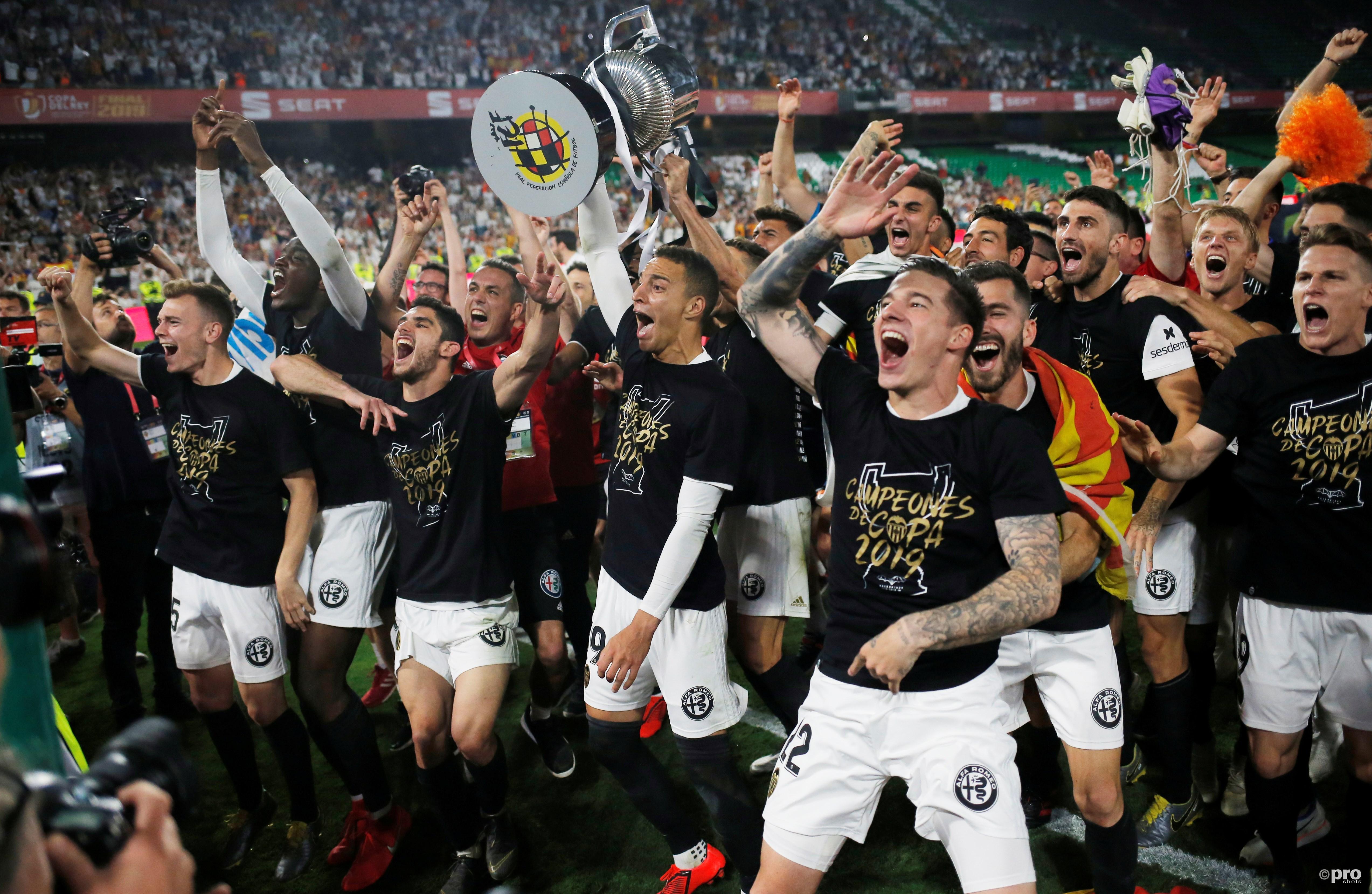 Valencia wint de Copa del Rey. (PRO SHOTS/Action Images)