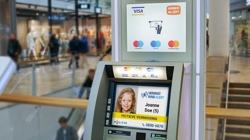 Amber Alert op pinautomaten (Afbeelding: Politie)