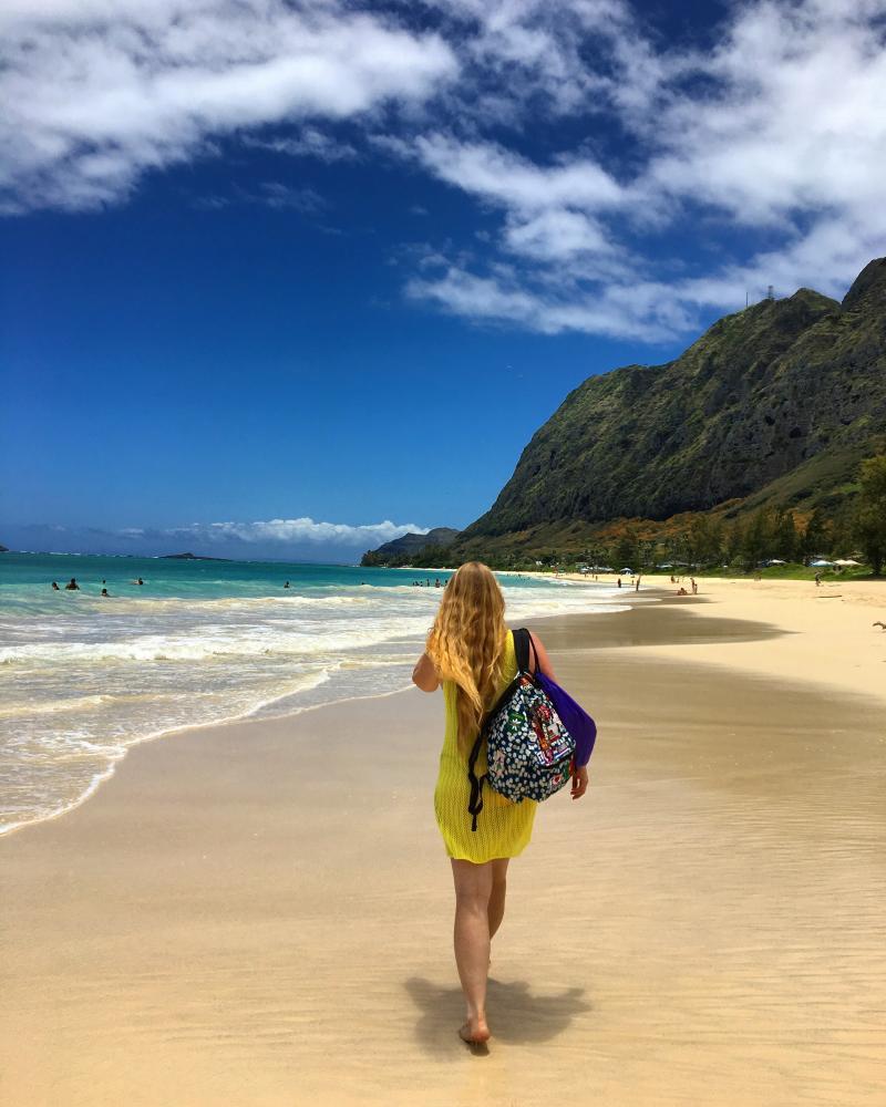 Hoe-die-nie & Semtex genieten van een prachtige vakantie op Hawaii (Foto: Hoe-die-nie & Semtex)